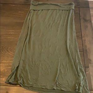 Super soft Ana Olive green maxi skirt XL